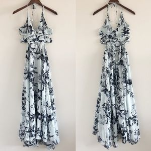 Free People Lille Floral Printed Maxi Dress Small